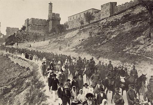 אוסטרים עוזבים את ירושלים ב1916