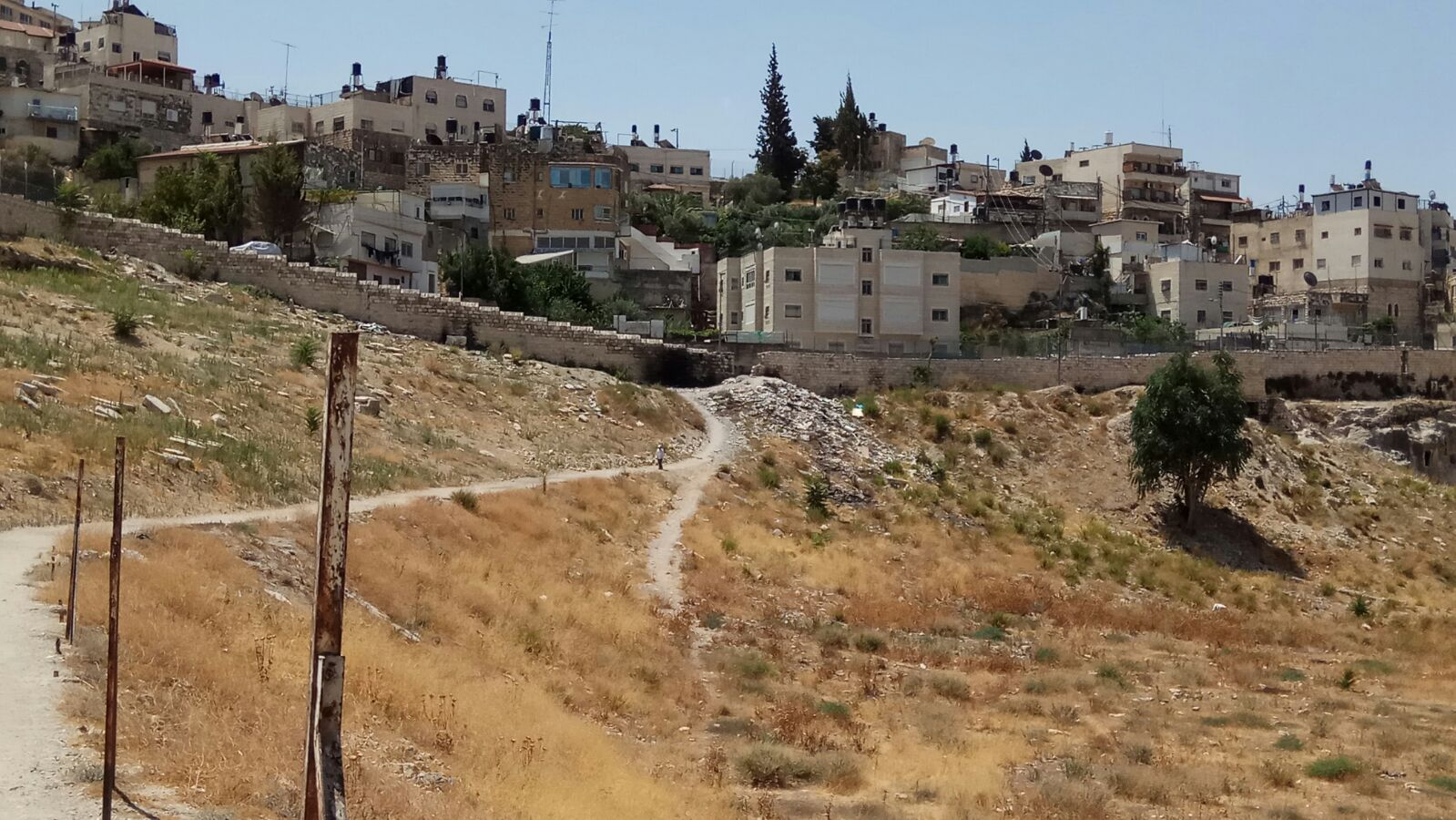 נקיון חלקת אבן אסוואי סמוך לכפר השילוח