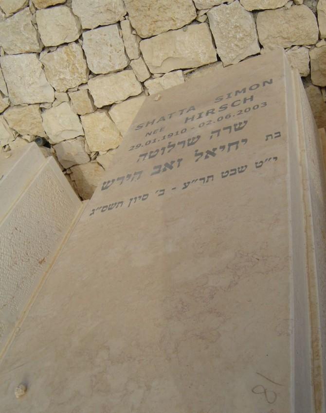 תמונת קבר שרה שרלוטה
