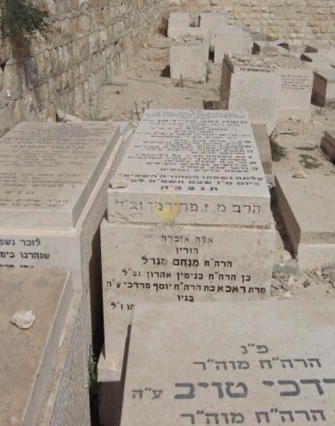 תמונת קבר משה זאב פרידמן