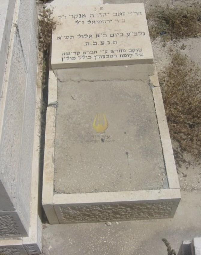תמונת קבר זאב יהודה אנקר