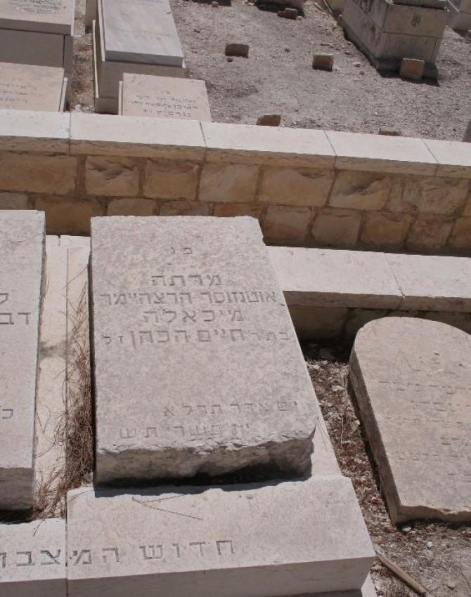 תמונת קבר מיכאלה אוטנזוסר - הרצהיימר