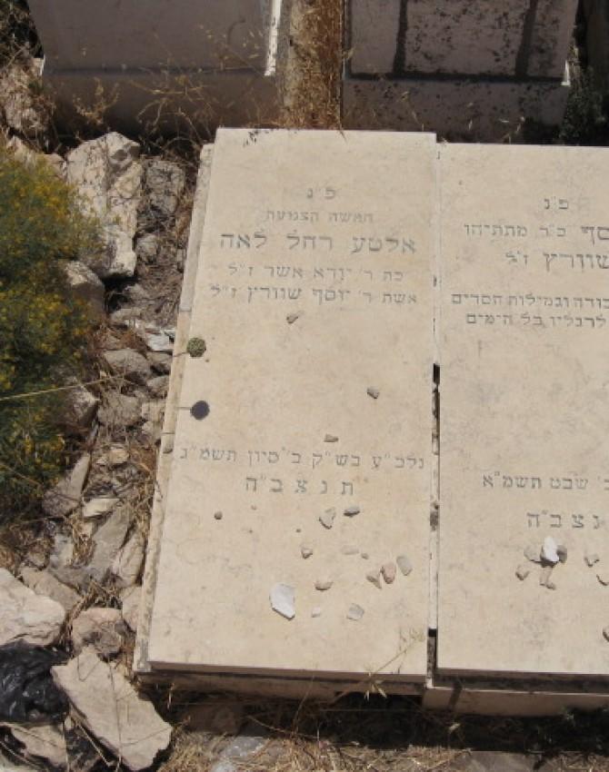 תמונת קבר אלטע רחל לאה שוורץ